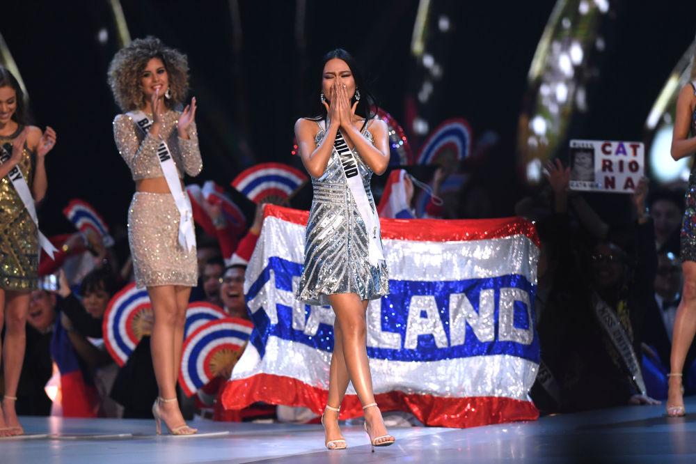 ملكة جمال تايلاند - سوفيدا كانتشاناريان، لدى تأهلها إلى نهائي مسابقة ملكة جمال الكون 2018 في بانكوك، تايلاند 17 ديسمبر/ كانون الأول 2018