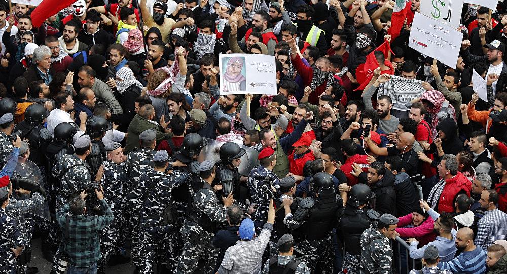 مظاهرات لبنان - السترات الصفراء، بيروت، لنان 16 ديسمبر/ كانون الأول 2018