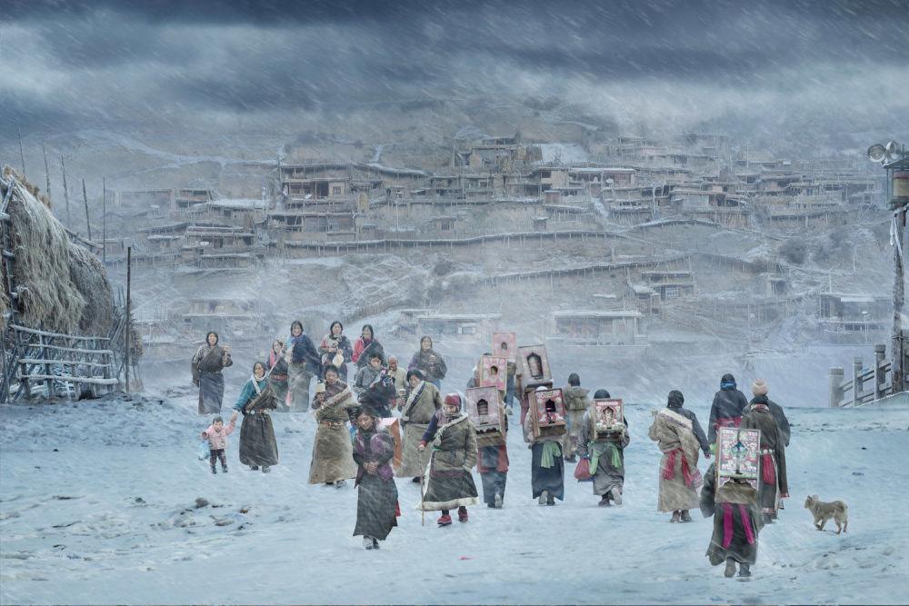 صورة للمصور هي جيان من الصين، الفائزة في فئة التصوير أفضل صورة فردية حار/ بارد