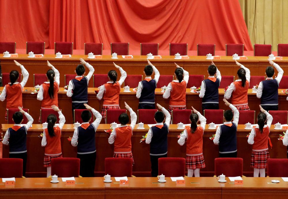 أحداث الطلاب المكرسة للذكرى الأربعين لسياسة الإصلاح والانفتاح في مجلس الشعب في بكين، 18 ديسمبر/ كانون الأول 2018