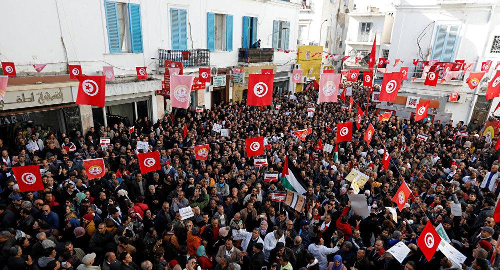 احتجاجات في تونس مطالبة برفع الأجور، 19ديسمبر/كانون الأول 2018