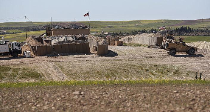 صورة أرشيفية - موقع قوات الجيش الأمريكي في منبج، سوريا 4 أبريل/ نيسان 2018