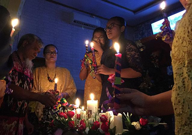 قداس الميلاد في إندونيسيا بعد موجة تسونامي
