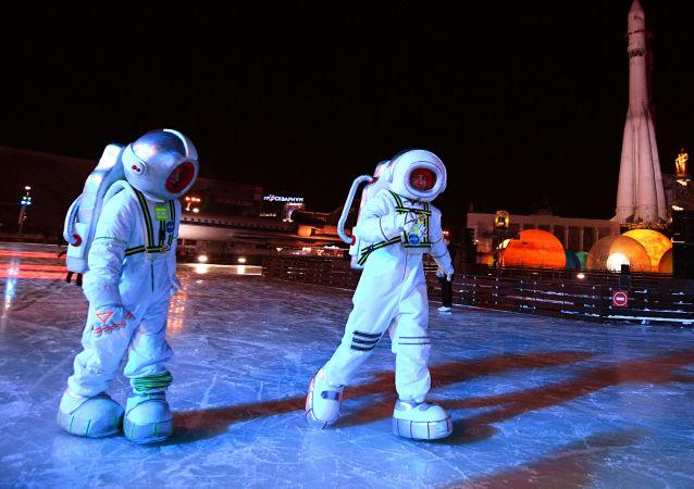 افتتاح مدينة الشتاء في مركز معارض عموم روسيا في موسكو