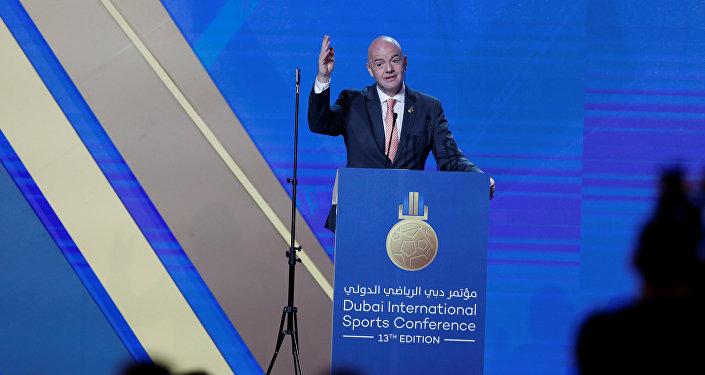 رئيس الاتحاد الدولي لكرة القدم (الفيفا) جياني إنفانتينو