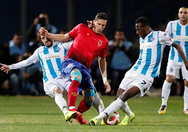 مباراة الأهلي مع بيراميدز - رمضان صبحي