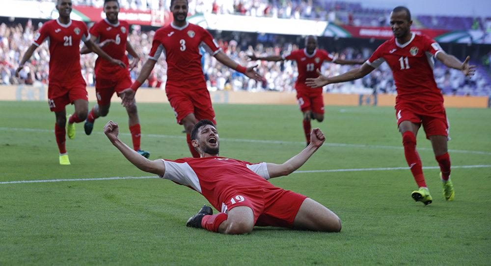 من مباراة أستراليا أمام الأردن في كأس الأمم الآسيوية 2019