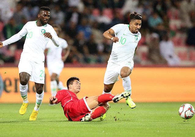 المنتخب السعودي ومنتخب كوريا الشمالية