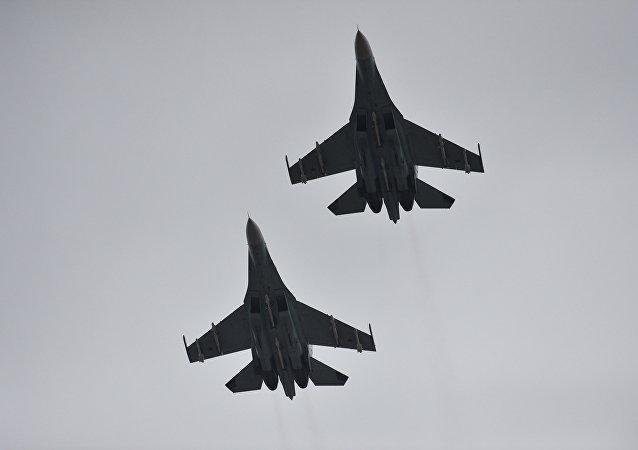 طائرتان روسيتان من طراز سو-30إم2