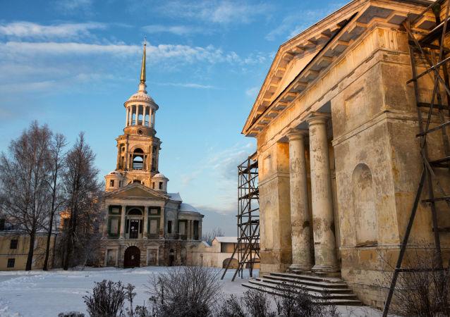 كنيسة سباسو نيروكوتفورسكوغو في مدينة تورجوك في منطقة تفير الروسية