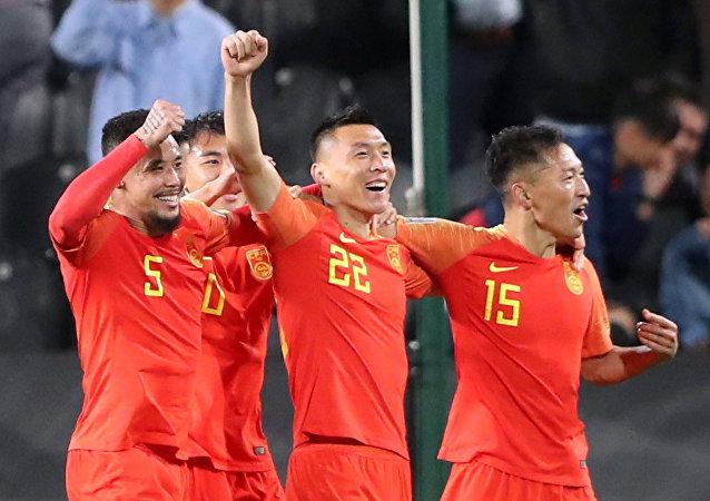 من مباراة الصين أمام الفلبين في كأس آسيا 2019
