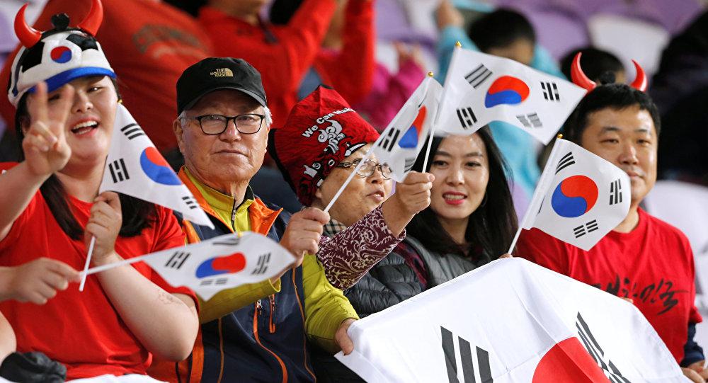 من مباراة كوريا الجنوبية أمام قرغيزستان في كأس آسيا 2019