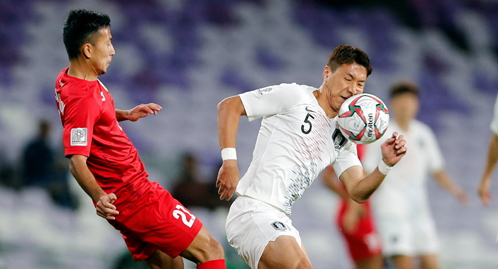 من مباراة كوريا الجنوبية أمام قيرغستان في كأس آسيا 2019