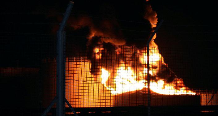 حريق في مصافي عدن
