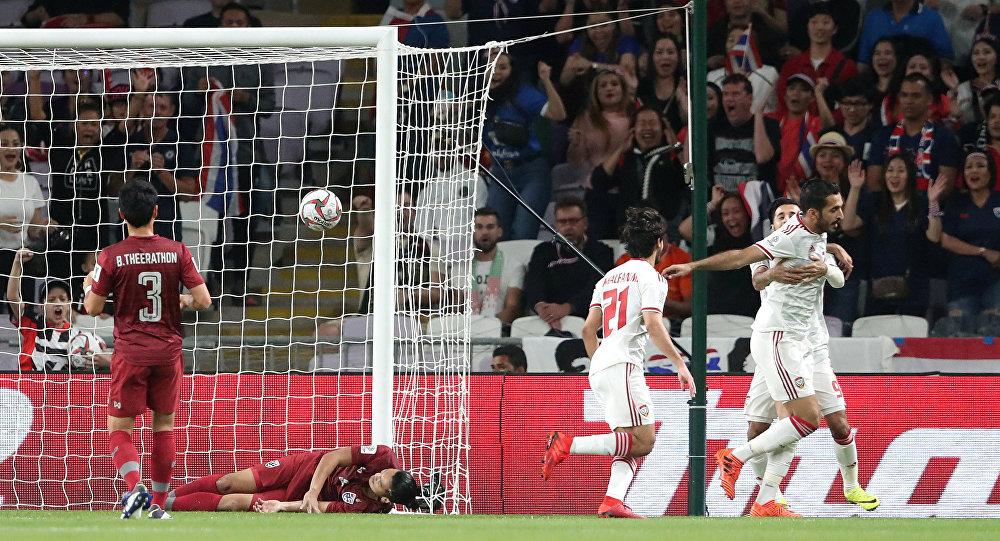 الهدف الأول في مباراة الإمارات وتايلاند