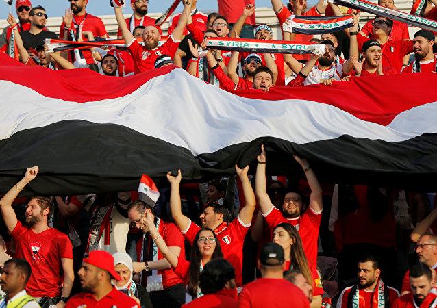 جماهير المنتخب السوري في أمم آسيا