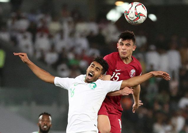 من مباراة قطر مع السعودية في كأس آسيا 2019