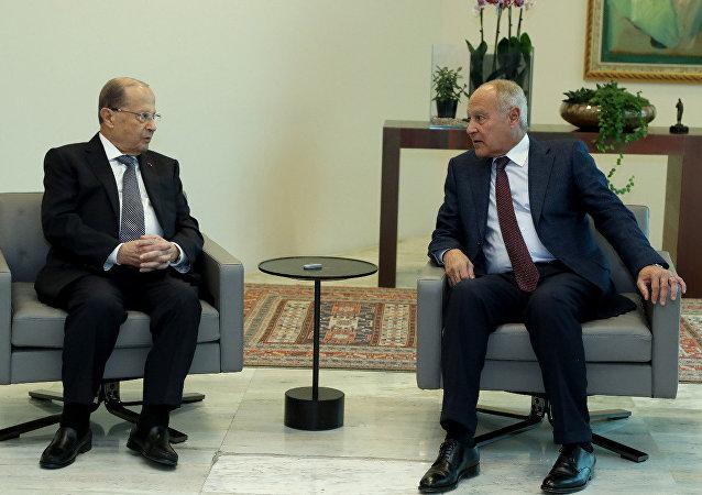 أبو الغيط والرئيس اللبناني
