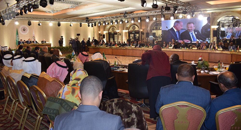 إجتماع وزراء الخارجية العرب في إطار القمة الاقتصادية العربية في بيروت، لبنان 18 يناير/ كانون الثاني 2019