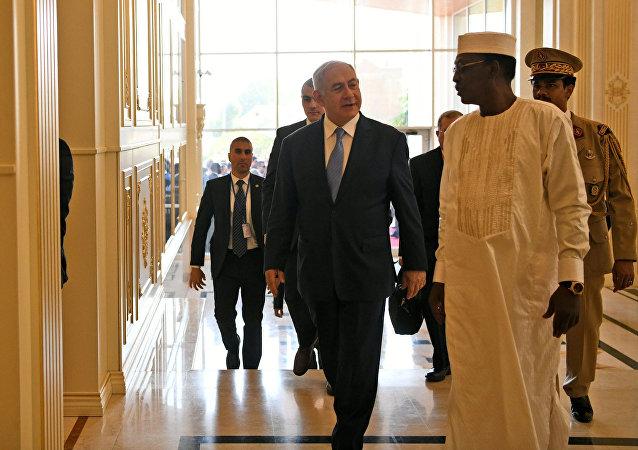 رئيس الوزراء الإسرائيلي بنيامين نتنياهو والرئيس التشادي إدريس ديبي