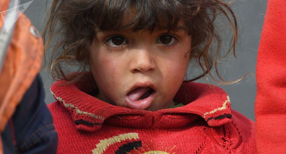 مخيم اللاجئين، النازحين السوريين من تدمر، في ريف حمص، سوريا