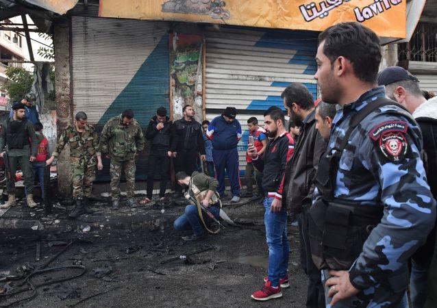 انفجار سيارة سوزوكي في ساحة الحمام  في اللاذقية 22 يناير/ كانون الثاني 2019