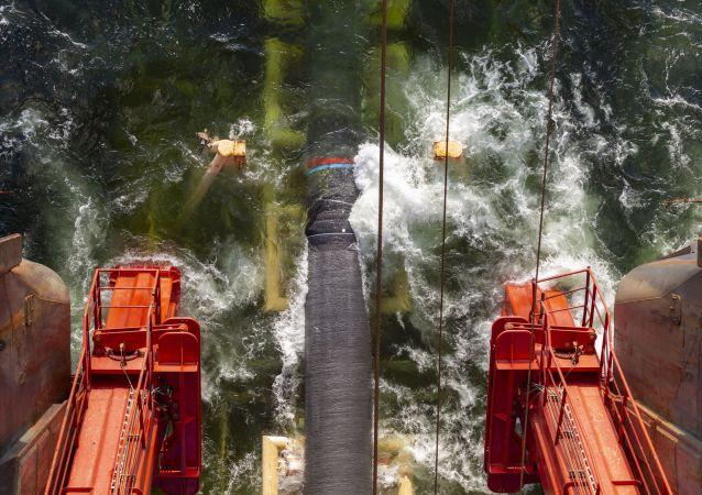 تركيب أنابيب الغاز لمشروع التيار الشمالي - 2 في خليج فنلندا