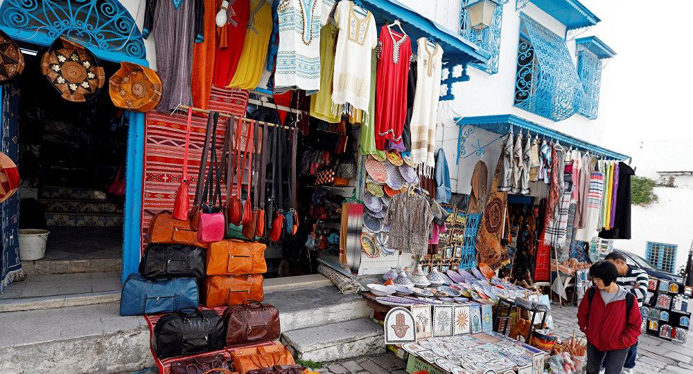 هدايا تذكارية تقليدية في سيدي بو سعيد في تونس