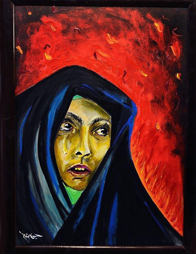 إحدى لوحات الفنان المصري حسين نوح