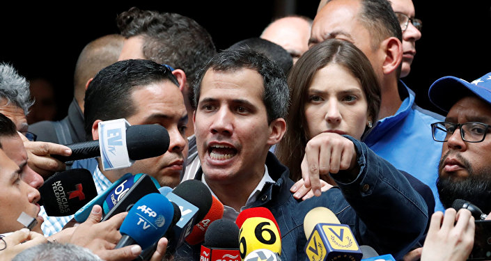 رئيس البرلمان الفنزويلي المعارض، خوان غوايدو