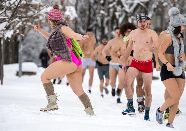 سباق البكيني السنوي في بلغراد، صربيا، 26 يناير/ كانون الثاني 2019