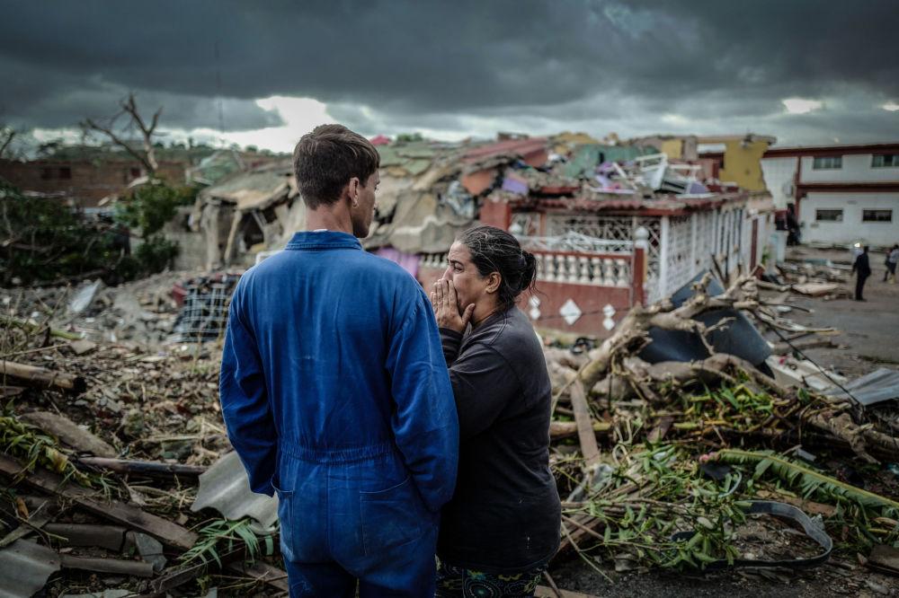 آثار إعصار في هافانا، كوبا 28 يناير/ كانون الثاني 2019
