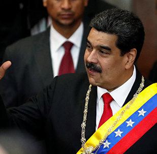 الرئيس الفنزويلي نيكولاس مادورو، كاراكاس، فنزويلا 24 يناير/ كانون الثاني 2019