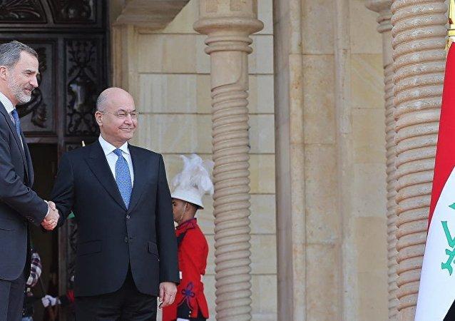 زيارة ملك إسبانيا فيليب السادس إلى بغداد، في أول زيارة لملك إسباني إلى العراق منذ أربعة عقود 30 يناير/ كانون الثاني 2019