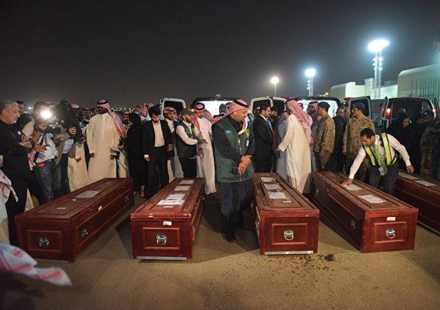 جثامين ضحايا الألغام في السعودية