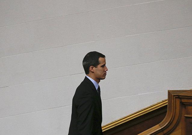 زعيم المعارضة الفنزويلية خوان غوايدو في كاراكاس، فنزويلا  29 يناير / كانون الثاني 2019