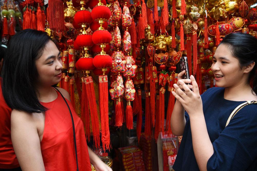 الاحتفال برأس السنة القمرية الصينية الجديدة في تشاينا تاون في مانيلا، الفلبين، 4 فبراير/ شباط 2019