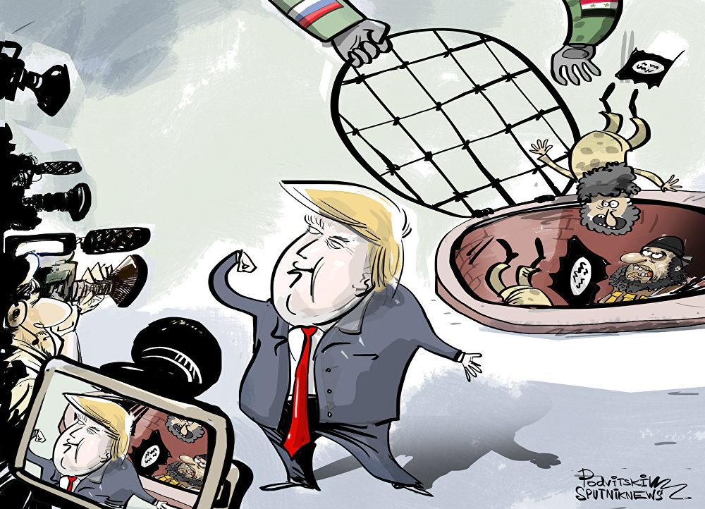 ترامب يمثل دور المنتصر في سوريا