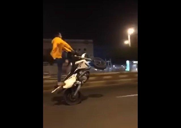 متهور الدراجة النارية في السعودية