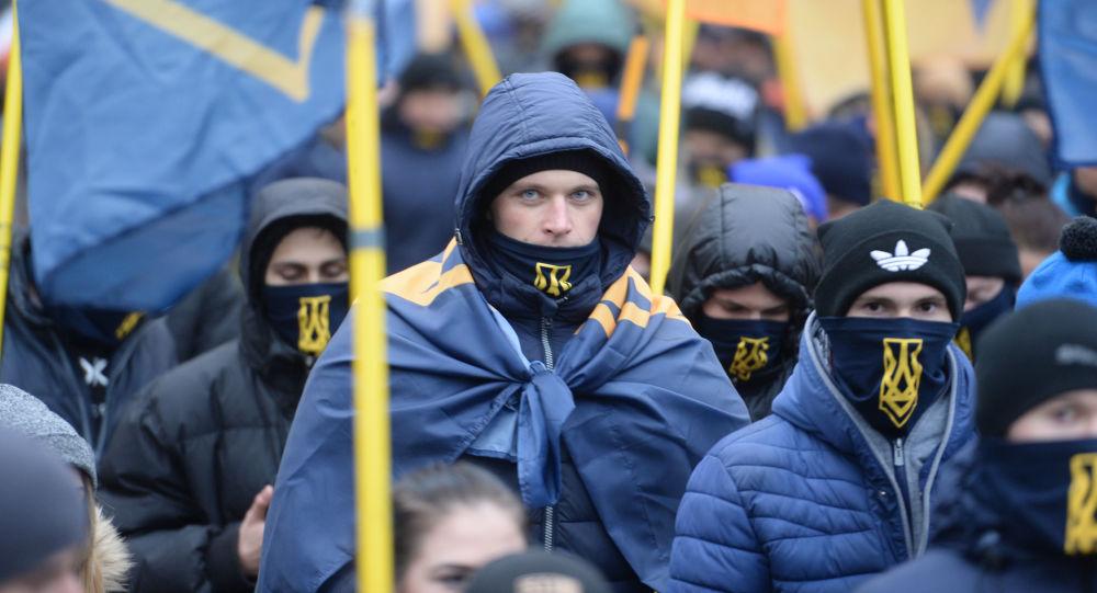 مظاهرة أوكرانية في ذكرى انقلاب 2014