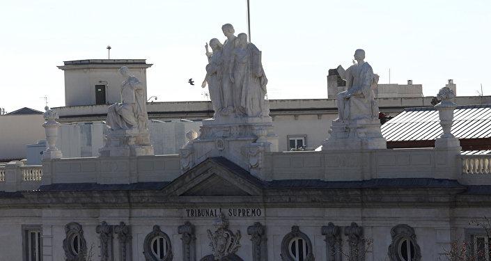 محكمة إسبانيا العليا في اليوم السابق لبدء محاكمة قادة حركة استقلال كاتالونيا في مدريد