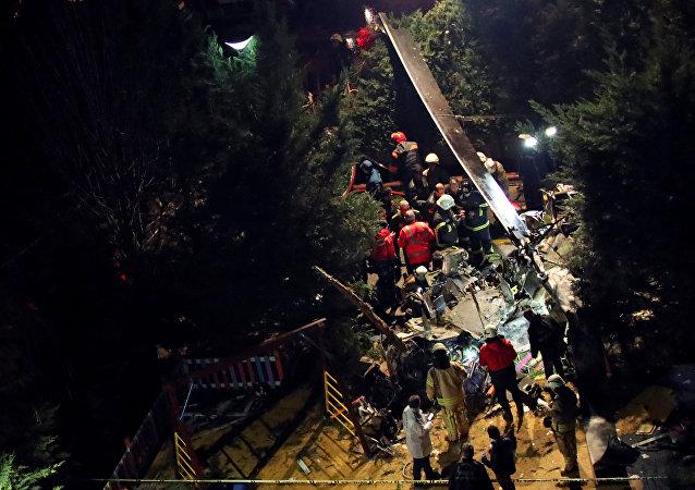 سقوط مروحية في تركيا