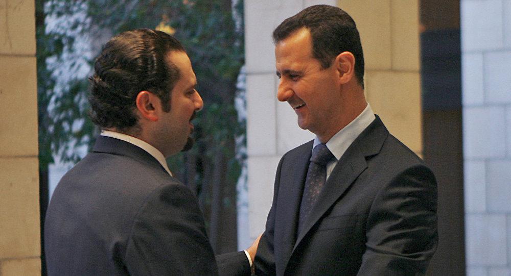سعد الحريري وبشار الأسد