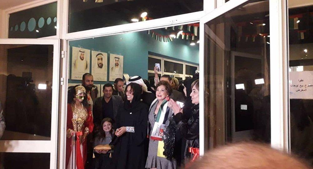 الممثلة المصرية لبلبة في احتفالية وزارة الثقافة المصرية الخاصة باليوم الإماراتي لـ أصحاب الهمم