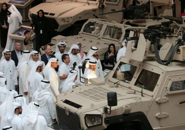 أمير أبو ظبي محمد بن زايد آل نهيان يحضر معرض آيدكس 2019 في أبو ظبي، الإمارات 17 فبراير/ شباط 2019