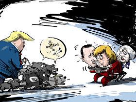 ترامب يدعو حلفائه الأوروبيين لمحاكمة أكثر من 800 إرهابي من داعش تم أسرهم في سوريا
