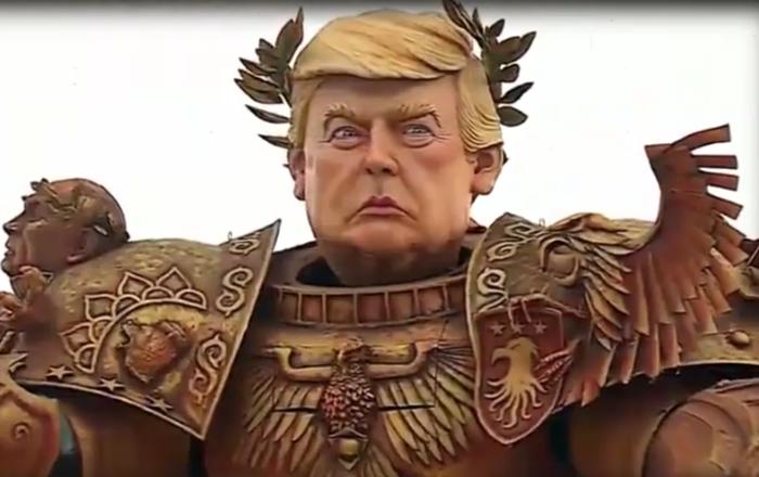 تمثال-ترامب-المحارب-يجوب-الشوارع-الإيطالية-(فيديو-صور)