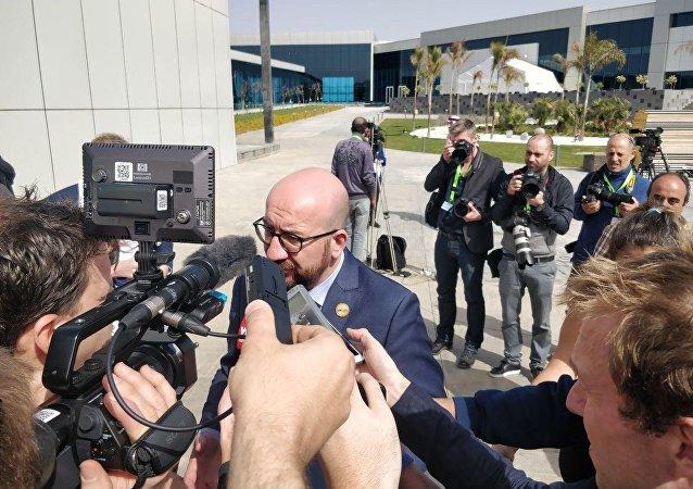 رئيس وزراء بلجيكا في حوار للصحفيين