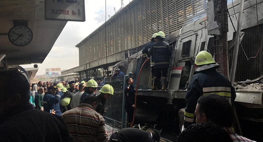 حادث قطار رمسيس في مصر
