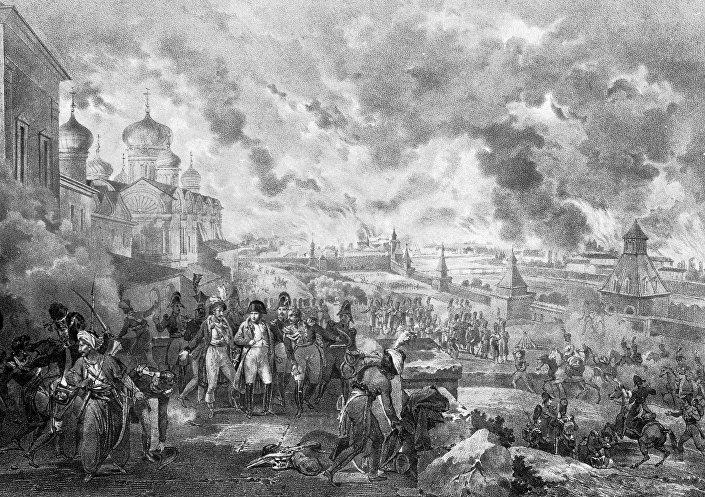 لوحة نابليون قبل الفرار من موسكو